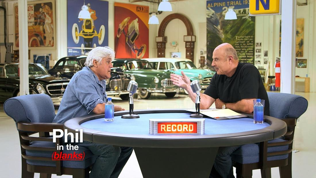 Dr. Phil interviewing Jay Leno