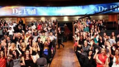 A photo of Dr. Phil's audience.