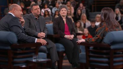 A family has a debate on the Dr. Phil stage.