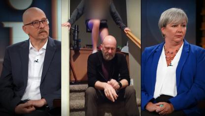 Photo collage of three guests on Dr. Phil's show.