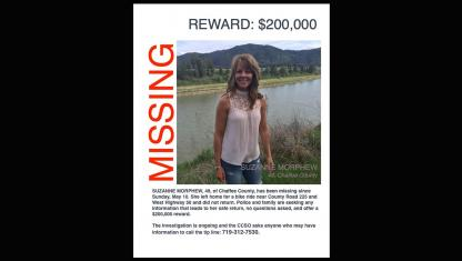 Suzanne Morphew missing person poster