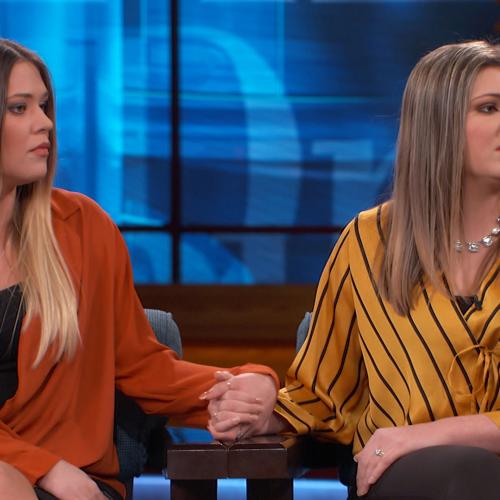 Sisters sitting on Dr. Phil's stage