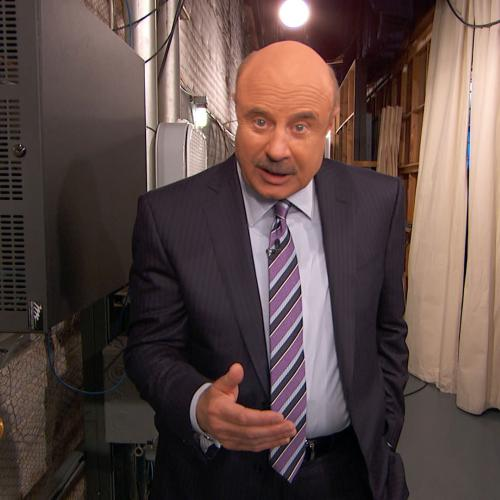 Dr. Phil talking to camera
