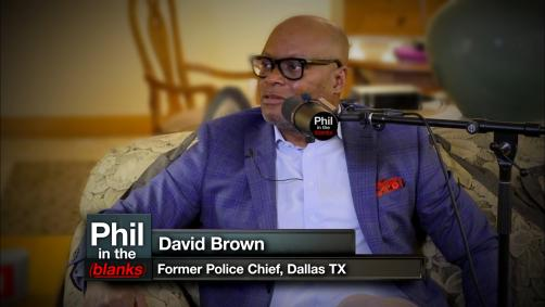 Dallas Chief of Police being interviewed