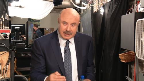 Dr. Phil talking to the camera
