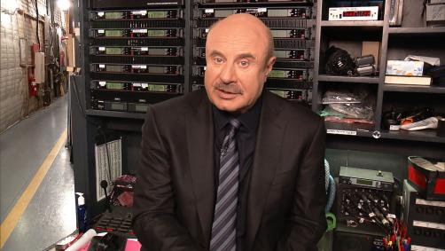 Dr. Phil backstage during Today's Takeaway