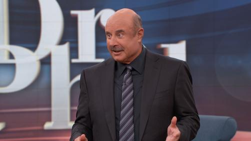 Dr. Phil speaking to the audience after the show